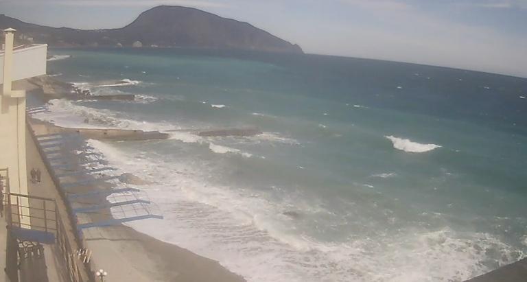 WEB-камера online в Гурзуфе Ай-Даниль: пляж