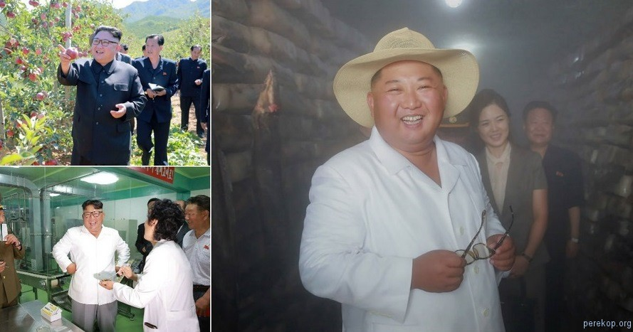 Лидер Северной Кореи Ким Чен Ын инспектирует товары и объекты